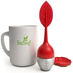 Red TeafLeaf Tea Infuser  http://www.amazon.com/TeaLeaf-Tea-Infuser-Silicone-Stainless/dp/B00O31RNLQ