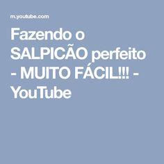 Fazendo o SALPICÃO perfeito - MUITO FÁCIL!!! - YouTube