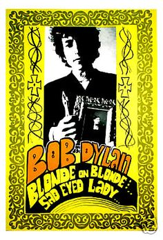 "Bob Dylan Blonde on Blonde Concert Poster 1966  • 100% Mint unused condition • Well discounted price + we combine shipping • Click on image for awesome view • Poster is 12"" x 18"" • Semi-Gloss Finish • Great Music Collectible - superb copy of original • Usually ships within 72 hours or less with > tracking. • Satisfaction guaranteed or your money back. Sportsworldwest.com"