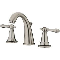 Estora Varese Widespread Bathroom Faucet with Double Handles Finish: Brushed Nickel