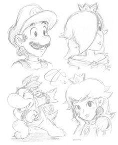 220 Best Aaaalll Mario N Fav Coloring Sheets Images Drawings