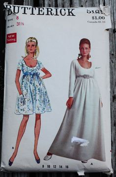 Butterick 5181 1960s 60s Empire Cocktail or by EleanorMeriwether