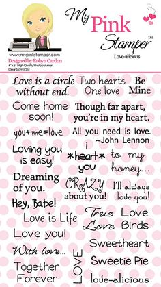 Love-alicious (valentine's day is right around the corner...great for little treat bags)