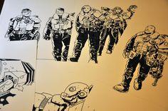 Jakub Kijuc - komiks, ilustracja: Rysowanie