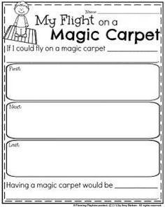 Spring Writing Prompts - Narrative Writing Organizer My Flight on a Magic Carpet