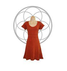 Organic dress  Organic cotton and Hemp Dress  Short Sleeve