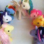 Crochet amigurumi My Little Pony.  These are so cute, I wish she had a pattern!