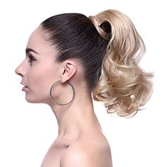 High Quality Synthetic Short Wavy Blonde Ponytail
