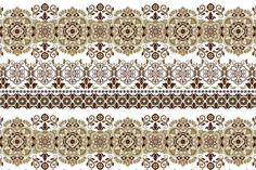 5 Ornamental Floral Seamless Borders by Sunny_Lion on @creativemarket