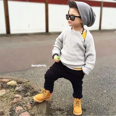 This Month's Best Street Style Looks of boy Kids Fashion - The Day Collections Cute Baby Boy Outfits, Little Boy Outfits, Cute Outfits For Kids, Cute Baby Clothes, Toddler Outfits, Toddler Swag, Little Kid Fashion, Toddler Boy Fashion, Cute Kids Fashion
