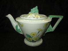 BEAUTIFUL VINTAGE DECO BURLEIGH WARE BURGESS ZENITH PRIMROSE 5138 TEA POT #TeaPots