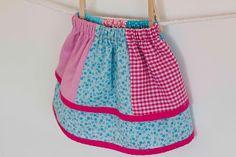 littleblueduck: Layered Scrap Skirt Tutorial