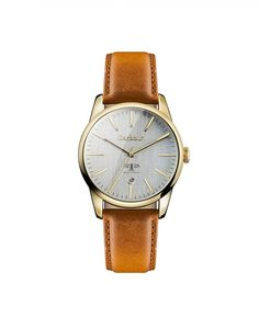 Barbour Women's Leighton Watch - Brown Leather BB049GDBR
