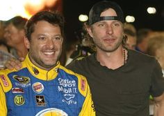 Smoke & Dierks Bentley after the All-Star Race
