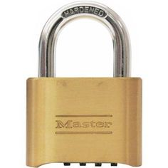 NEW Master 4 Code Resettable 2 inch Combination Padlock Dial Digit for Luggage Marketing Website, Security Tips, Online Security, Personal Security, Possible Combinations, Copper Metal, Travel Accessories, Locker Storage, Coding
