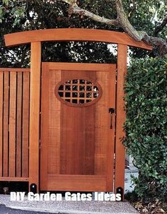 Asian-inspired gate designed by Julian Hodges, Berkeley, California. From FineHomebuilding Issue page 115 Asian-inspired gate designed by Julian Hodges, Berkeley, California. From FineHomebuilding Issue page 115 Backyard Gates, Garden Gates And Fencing, Garden Doors, Fence Gate, Asian Garden, Diy Garden, Shade Garden, Home And Garden, Garden Projects