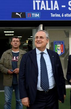 Claudio Lotito prior to the press conference at Juventus Stadium on October 5, 2016 in Turin, Italy.