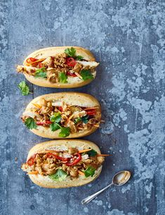 Chicken schnitzel bánh mì with satay sauce Check out this chicken schnitzel bánh mì with satay sauce. Serving 4, this super simple recipe is easy to make and is a real crowd pleaser