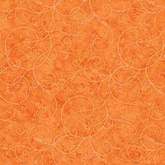 fabric - Spirals on Orange Twirly spirals on a warm mottled orange background. Part of the