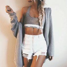 Calvin Klein, modern cotton, bralette - heather grey