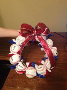 I have two bags of baseballs that came from beside the magic dumpster... is a baseball wreath the answer?