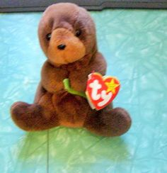 TY SEAWEED THE OTTER BEANIE BABY BABIES RETIRED BIRTHDAY 3-19-96 STUFFED TOY