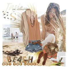 """""""The Beach"""" by hatsgaloore ❤ liked on Polyvore featuring Calypso St. Barth, Jasmine Di Milo, Pellini, O'Neill, Avec Modération and TOMS"""