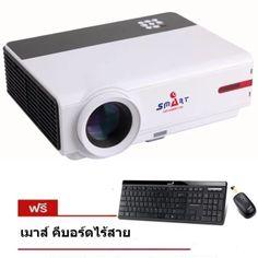 ขอแนะนำ  ISMART หลอด LED 3D FULL HD Smart Projector WXGA Android Wifi รุ่นRD808 - Black  ราคาเพียง  10,230 บาท  เท่านั้น คุณสมบัติ มีดังนี้ หลอด LED อายุการใช้งานสูงถึง 20,000-50,000ชั่วโมง รองรับระบบภาพ 3D ความล่ะเอียดสูง แบบ Full HD 1080P ความสว่าง 3800 lumens