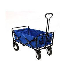 Mac Sports Collapsible Folding Utility Wagon Garden Cart Shopping Beach