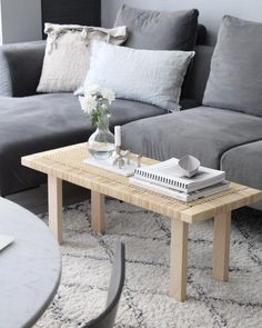 Ikea 'Stockholm' coffee table/bench