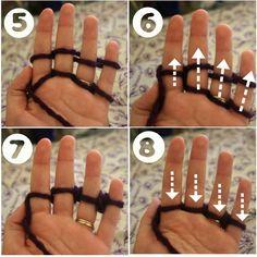 Lines Across: Finger Knitting Tutorial