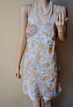 Vintage Sheer Cup Nightgown with Multi Pastel by LingerieAddicts, $24.50