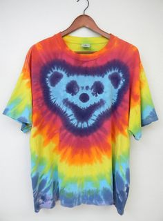 Vintage Tie Dye Tshirt Teddy Bear Deadhead by PinkCheetahVintage
