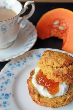 Pumpkin Scones | Veggie Desserts Blog These pumpkin scones are fluffy and easy to make. I've added pumpkin puree and spices to give them the taste of a pumpkin spice latte! You can also use butternut squash and make your own puree easily.