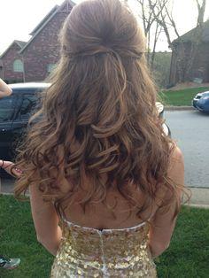 Prom hair. Half up half down