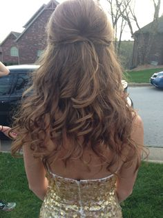 Prom hair. Half up half down