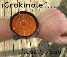 Apple után szabadon. :) www.crokinole.hu Wood Watch, Apple, Accessories, Wooden Clock, Apple Fruit, Apples, Jewelry Accessories