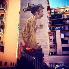Something new from Etam Cru in Rome, Italy #streetart #etamcru @bezt_etam @sainer_etam  Andrea Concina