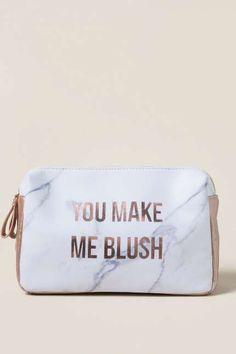 Makeup Pouch Privacy Pouch Flowers Multi Use Purse Accessory Pouch,Pencil Pouch Eyeglasses Case Cash Envelope Cute Purse Accessory