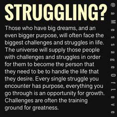 No struggle No glory No greatness Positive Affirmations, Positive Quotes, Motivational Quotes, Inspirational Quotes, Quotes To Live By, Life Quotes, Qoutes, Dear Self, Abraham Hicks Quotes