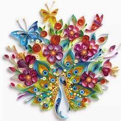 Peacock - Quilling Paper Art by Yulia Brodskaya