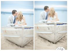 lakeshore wedding ~ love in a boat!