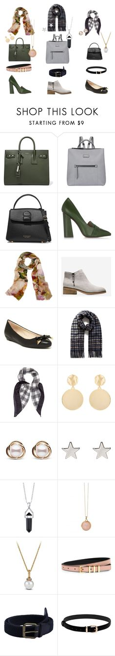 """""""Accessories to work place"""" by angelica-americo on Polyvore featuring Yves Saint Laurent, Fiorelli, Burberry, Tory Burch, Bindya, Cole Haan, Louise et Cie, Mounser, Trilogy and Jennifer Meyer Jewelry"""