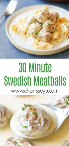 This Easy Swedish Meatballs Recipe is the best ever! Pair it with some egg noodles and your favorite vegetable and a weeknight family dinner is ready in less than half an hour Healthy Dinners For Kids, Easy Family Dinners, Easy Weeknight Dinners, Quick Easy Meals, Easy Dinner Recipes, Family Meals, Lunch Recipes, Fall Recipes, Pasta Recipes