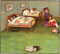 From Days in Catland, Father Tuck's Panorama, by Louis Wain