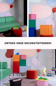 De lente is in zicht ... Van zacht textiel tot praktische opbergers, voeg wat kleur toe aan je interieur met onze decoratietrends. LIXHULT Opbergcombinatie, 65,-/st. #IKEABE #IKEAxCoffeeklatch   Spring is in the air ... From soft textiles tot practical storage space, add a pop of color to your interior thanks to our home decor trends. LIXHULT Storage combination, 65,-/pce. #IKEABE #IKEAxCoffeeklatch