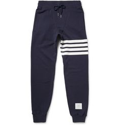 Thom Browne Loopback Cotton-Jersey Sweatpants | MR PORTER