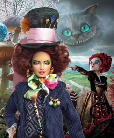 BARBIE-OOAK-THE-MAD-HATTER-STYLE-ALICE-COLLECTOR-REPAINT-DOLL-By-IMPERIALIS