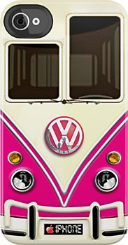 Pink Volkswagen VW iPhone 4 case.....cute