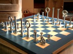 """Steampunk"" Chess Board - Img Heavy! - MISCELLANEOUS TOPICS- Knitting, sewing, crochet, tutorials, children crafts, papercraft, jewlery, needlework, swaps, cooking and so much more on Craftster.org"